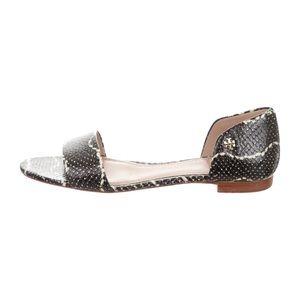 Tory Burch snakeskin slide sandals